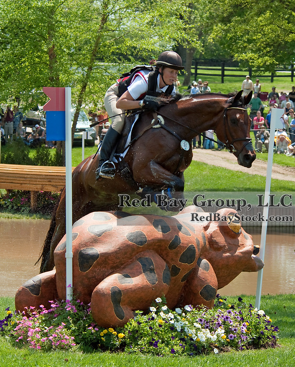 Rebecca Howard and Riddle Master at the 2011 Rolex Kentucky Three-Day Event in Lexington, KY.