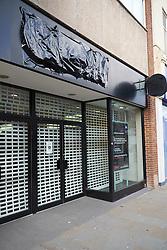 Closed HMV store Bangor High Street North Wales 2015