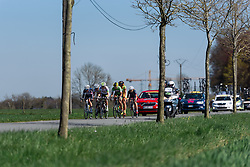 The break into lap two - Flèche Wallonne Femmes - a 137km road race from starting and finishing in Huy on April 20, 2016 in Liege, Belgium.