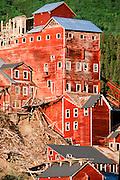 Alaska. Wrangell/St. Elias NP. Kennicott Mine, est. 1910, processed copper ore til 1938 near the town of McCarthy.