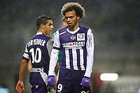 Martin Braithwaite / Wissam Ben Yedder - 28.02.2015 - Toulouse / Saint Etienne - 27eme journee de Ligue 1 -<br />Photo : Manuel Blondeau / Icon Sport