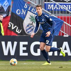 Waldhofs Michael Schultz (Nr.23) am Ball beim Spiel in der 3. Liga, FC Wuerzburger Kickers - SV Waldhof Mannheim.<br /> <br /> Foto © PIX-Sportfotos *** Foto ist honorarpflichtig! *** Auf Anfrage in hoeherer Qualitaet/Aufloesung. Belegexemplar erbeten. Veroeffentlichung ausschliesslich fuer journalistisch-publizistische Zwecke. For editorial use only. DFL regulations prohibit any use of photographs as image sequences and/or quasi-video.