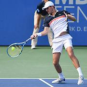 EDOUARD ROGER-VASSELIN hits a forehand at the Rock Creek Tennis Center.