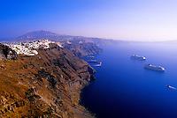 Village of Firostefani, island of Santorini, the Cyclades, Greece