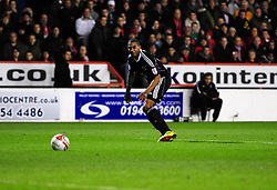 Bristol City's Marvin Elliott tests Nottingham Forest's Lee Camp  with a shot - Photo mandatory by-line: Matt Bunn/JMP - 25/01/2011 - SPORT - FOOTBALL - npower championship-Nottingham Forest v Bristol city-City Ground-Nottingham