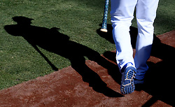 June 27, 2017 - Los Angeles, California, U.S. - Los Angeles Dodgers' Chase Utley walks on to the field prior to a Major League baseball game between the Los Angeles Angels and the Los Angeles Dodgers at Dodger Stadium on Tuesday, June 27, 2017 in Los Angeles. (Photo by Keith Birmingham, Pasadena Star-News/SCNG) (Credit Image: © San Gabriel Valley Tribune via ZUMA Wire)