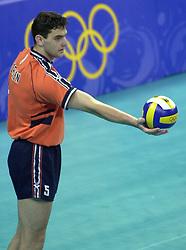 19-09-2000 AUS: Olympic Games Volleybal Nederland - Australie, Sydney<br /> Nederland wint vrij eenvoudig van Australie met 3-0 / Guido Gortzen