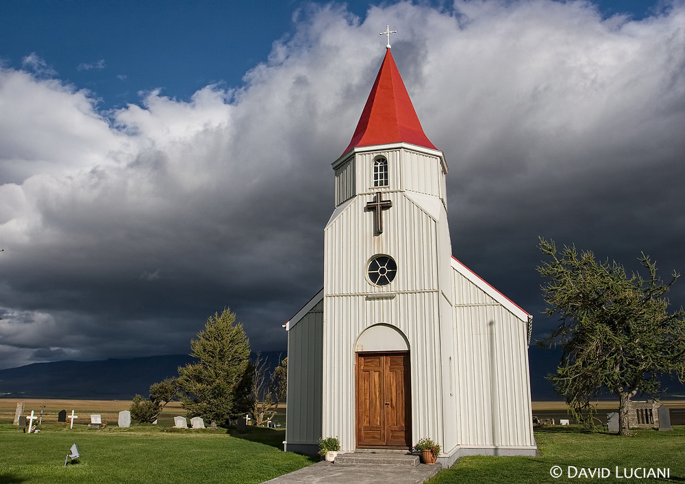...and the Glaumbær church located on the same area.