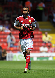 Bristol City's Liam Fontaine - Photo mandatory by-line: Joe Meredith/JMP - Tel: Mobile: 07966 386802 13/07/2013 - SPORT - FOOTBALL - Bristol -  Bristol City v Glasgow Rangers - Pre Season Friendly - Bristol - Ashton Gate Stadium