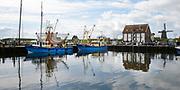 Texel is het grootste Nederlandse Waddeneiland. Het landschap op Texel is rijk en divers. Texel heeft behalve polders, brede zandstranden, duinen en graslanden ook heide, bos en kwelders. <br /> <br /> Texel is the biggest Dutch Wadden Island. The landscape on the island is rich and diverse. Texel has besides polders, wide sandy beaches, dunes and grasslands also heaths, woods and marshes.<br /> <br /> Op de foto / On the photo:  De haven van Oudeschild / Oudeschild harbor
