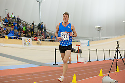 Matevž Cimermančič competes during day 2 of Slovenian Athletics Indoor Championships 2020, on February 23, 2020 in Novo mesto, Slovenia. Photo by Peter Kastelic / Sportida