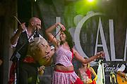 I Calanti in exhibition dancing the Pizzica or Taranta in a street festival