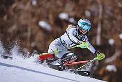 15.02.2021, Cortina, ITA, FIS Weltmeisterschaften Ski Alpin, Alpine Kombination, Damen, Slalom, im Bild Ragnhild Mowinckel (NOR) // Ragnhild Mowinckel of Norway in action during the Slalom competition for the women's alpine combined of FIS Alpine Ski World Championships 2021 in Cortina, Italy on 2021/02/15. EXPA Pictures © 2021, PhotoCredit: EXPA/ Johann Groder