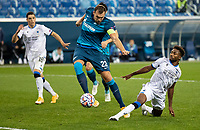 SAINT-PETERSBURG, RUSSIA - OCTOBER 20: Artem Dzyubaof Zenit St Petersburg during the UEFA Champions League Group F match between Zenit St Petersburg and Club Brugge KV at Gazprom Arena on October 20, 2020 in Saint-Petersburg, Russia [Photo by MB Media]