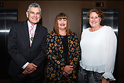 Bill Moran, Sport NZ Chair (L), Raelene Castle, Sport NZ Chief Executive Officer (R) & Julie Anne Morrison General Manager, Strategy, Policy & Corporate at Sport NZ. Sport NZ Lunch Function at the Hilton Hotel in Queenstown, New Zealand, Thursday, 20th May 2021. © Copyright images:  Clare Toia-Bailey / www.photosport.nz