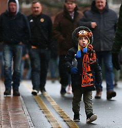 Supporters make their way to the game between Wolverhampton Wanderers' and AFC Bournemouth
