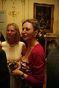 PHILLIPA WALKER AND CAROLINE MICHEL, Seamus Heaney reading and party. Irish Embassy. Grosvenor Place. 21 April 2006. ONE TIME USE ONLY - DO NOT ARCHIVE  © Copyright Photograph by Dafydd Jones 66 Stockwell Park Rd. London SW9 0DA Tel 020 7733 0108 www.dafjones.com