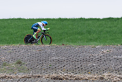 Tayler Wiles (Orica AIS) at Omloop van Borsele Time Trial 2016. A 19.9 km individual time trial starting and finishing in 's-Heerenhoek, Netherlands on 22nd April 2016.