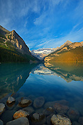 Lake Louise and the Rocky Mountains<br /> Banff National Park<br /> Alberta<br /> Canada