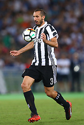 August 13, 2017 - Rome, Italy - Giorgio Chiellini of Juventus  during the Italian Supercup match between Juventus and SS Lazio at Stadio Olimpico on August 13, 2017 in Rome, Italy. (Credit Image: © Matteo Ciambelli/NurPhoto via ZUMA Press)