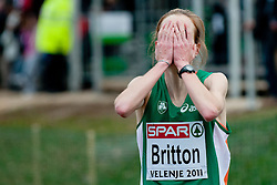 11-12-2011 ATLETIEK: EK 18 TH SPAR CROSS COUNTRY: VELENJE<br /> Fionnuala Britton of Ireland wins the race during the Senior Womens race during the 18th SPAR European Cross Country Championships Velenje 2011<br /> ©2011-FotoHoogendoorn.nl/Matic Klansek Velej