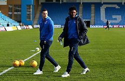 Ellis Harrison and Billy Bodin of Bristol Rovers arrive at The MEMS Priestfield Stadium, home of Gillingham for the Sky Bet League One fixture - Mandatory by-line: Robbie Stephenson/JMP - 16/12/2017 - FOOTBALL - MEMS Priestfield Stadium - Gillingham, England - Gillingham v Bristol Rovers - Sky Bet League One