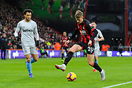 David Brooks (20) of Bournemouth during the Premier League match between Bournemouth and West Ham United at the Vitality Stadium, Bournemouth, England on 19 January 2019.