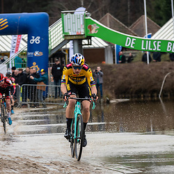 2020-02-08 Cycling: dvv verzekeringen trofee: Lille: Wout van Aert showing an outstanding performance after his recovery