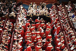 Peers take their seats in the House of Lords before the State Opening Of Parliament at Houses of Parliament in London.