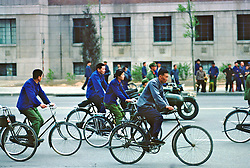 Comuters On Bicycles