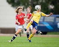 Cathrine Dekkerhus/Norway, Cecilia Kotte/Sweden. Norway-Sweden, WU17 Four Nation's Tournament. Eerikkilä, Finland, 25.5.2007. Photo: Jussi Eskola