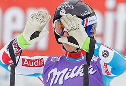 11.01.2015, Franz Klammer Weltcupstrecke, Bad Kleinkirchheim, AUT, FIS Ski Weltcup, Super G, Damen, im Bild Marie Jay Marchand-Arvier (FRA) // Marie Jay Marchand-Arvier of France reacts in the finish Area after her run of ladie's SuperG of the Bad Kleinkirchheim FIS Ski Alpine World Cup at the Franz Klammer Course in Bad Kleinkirchheim, Austria on 2015/01/11. EXPA Pictures © 2015, PhotoCredit: EXPA/ Mag. Gert Steinthaler
