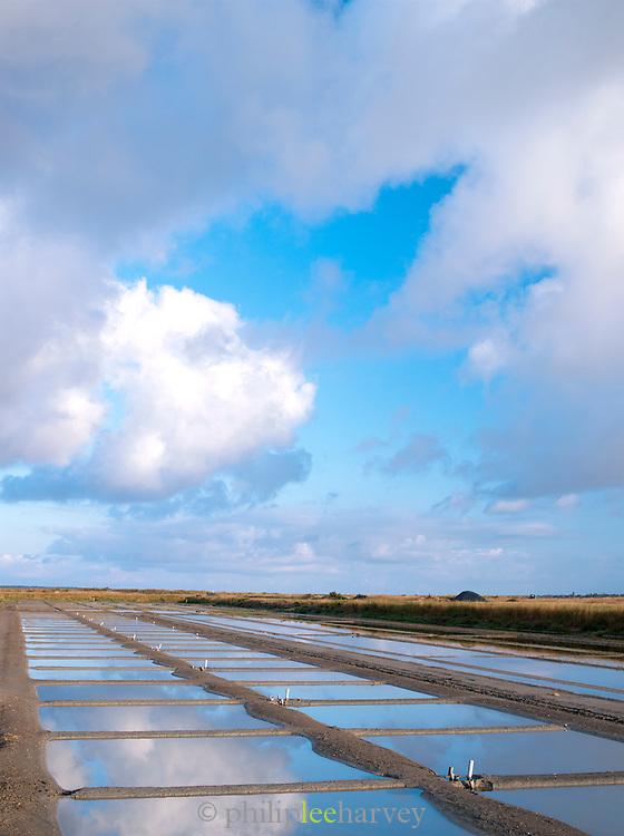 Sea salt harvet in Loix, Île de Ré, France