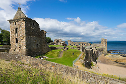 Ruins of St Andrews Castle, St Andrews, Fife, Scotland