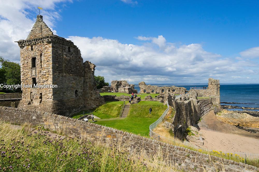 Ruins of St Andrews Castle, St Andrews, Fife, Scotland