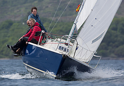 Sailing - SCOTLAND  - 27th May 2018<br /> <br /> DAY 3 Racing the Scottish Series 2018, organised by the  Clyde Cruising Club, with racing on Loch Fyne from 25th-28th May 2018<br /> <br /> GBR8005N, Virtuoso, Brian Wiseman/ Guy Neville, Craignish BC<br /> <br /> Credit : Marc Turner<br /> <br /> Event is supported by Helly Hansen, Luddon, Silvers Marine, Tunnocks, Hempel and Argyll & Bute Council along with Bowmore, The Botanist and The Botanist