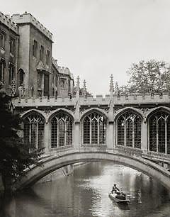 Cambridge University, Bridge of Sighs, 1925