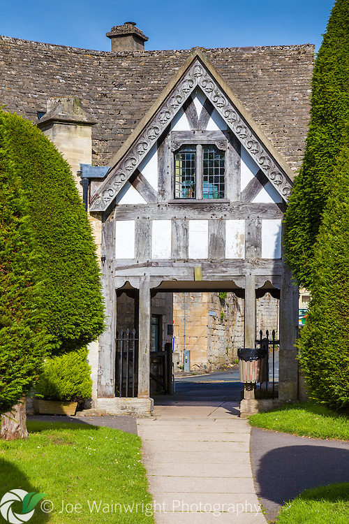 The Lychgate at St. Mary's Church, Painswick, Gloucestershire, was built in 1901.