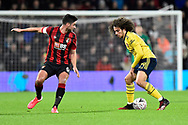 Andrew Surman (6) of AFC Bournemouth and Matteo Guendouzi (29) of Arsenal during the The FA Cup match between Bournemouth and Arsenal at the Vitality Stadium, Bournemouth, England on 27 January 2020.