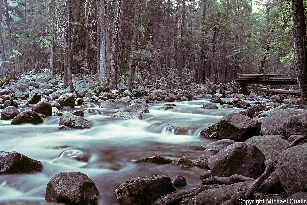 Happy Isles and the Merced River.  Yosemite, NP.  USA.
