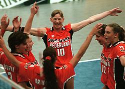 19-06-1998 VOLLEYBAL: NEDERLAND - CHINA: AMSTERDAM<br /> Henriette Weersing<br /> ©1998-WWW.FOTOHOOGENDOORN.NL