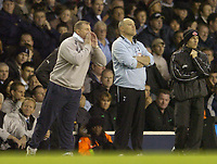 Photo: Olly Greenwood.<br />Tottenham Hotspur v Wigan Athletic. The Barclays Premiership. 26/11/2006. Wigan manager Paul Jewel and Tottenham manager Martin Jol