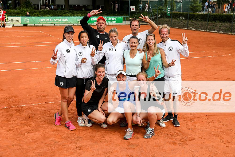 """Das siegreiche Team vom SCC - 2020 in der 2. Bundesliga, Regionalliga Nord-Ost Damen 2019, LTTC """"Rot-Weiß"""" vs. SCC Tennis, Berlin, 30.05.2019, Foto: Claudio Gärtner"""