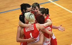 Anita Petho of Nova KBM at 1st match of finals of 1st DOL women volleyball league between OK Hit Nova Gorica and OK Nova KBM Branik, Maribor played in OS Milojke Strukelj, on April 8, 2009, in Nova Gorica, Slovenia. Nova KBM Branik won 3:1. (Photo by Vid Ponikvar / Sportida)