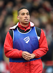 Bristol City academy player Zak Vyner warms up during the Sky Bet Championship game between Bristol City and Middlesbrough on 16 January 2016 in Bristol, England - Mandatory by-line: Paul Knight/JMP - Mobile: 07966 386802 - 16/01/2016 -  FOOTBALL - Ashton Gate Stadium - Bristol, England -  Bristol City v Middlesbrough - Sky Bet Championship