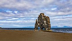 THEMENBILD - der etwa 15 m hohe Felsen Hvitserkur, aufgenommen am 13. Juni 2019 in Island // the approximately 15 m high rock Hvitserkur, Iceland on 2019/06/13. EXPA Pictures © 2019, PhotoCredit: EXPA/ Peter Rinderer