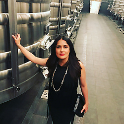 """Salma Hayek releases a photo on Instagram with the following caption: """"At the Grands Crus Classes dinner to launch the Vinexpo 2017 at Chateau Latour ....so many wine glasses!#wine"""". Photo Credit: Instagram *** No USA Distribution *** For Editorial Use Only *** Not to be Published in Books or Photo Books ***  Please note: Fees charged by the agency are for the agency's services only, and do not, nor are they intended to, convey to the user any ownership of Copyright or License in the material. The agency does not claim any ownership including but not limited to Copyright or License in the attached material. By publishing this material you expressly agree to indemnify and to hold the agency and its directors, shareholders and employees harmless from any loss, claims, damages, demands, expenses (including legal fees), or any causes of action or allegation against the agency arising out of or connected in any way with publication of the material."""