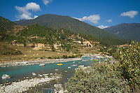 Rafting in Bhutan.