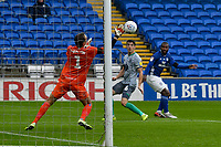 Football - 2019 / 2020 Championship - Cardiff City vs Blackburn Rovers<br /> <br /> Junior Hoilett of Cardiff Cityshoots wide of goal & Christian Walton of Blackburn Rovers<br /> in a match played with no crowd due to Covid 19 coronavirus emergency regulations, at the almost empty Liberty Stadium.<br /> <br /> COLORSPORT/WINSTON BYNORTH