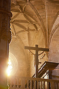Inside the church at Jeronimos Monastery, an UNESCO World Heritage site in Lisbon, Portugal
